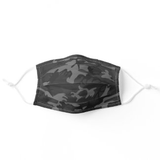 Charcoal Camouflage Men's Adult Cloth Face Mask