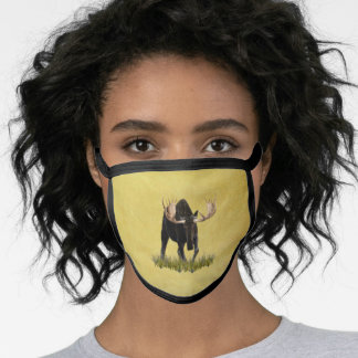 Charging Bull Moose Face Mask