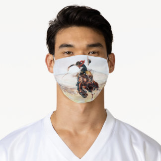 Charles Marion Russell A Bad Hoss Poster Adult Cloth Face Mask