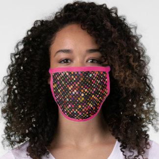 Charming Pink  Trim Face Mask