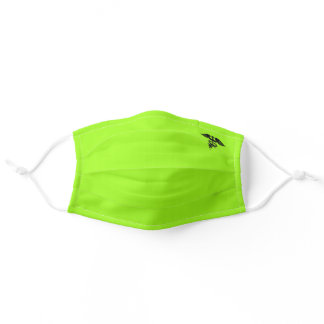 Chartreuse Bright Neon Green - Caduceus Sy Adult Cloth Face Mask
