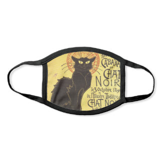Chat Noir Steinlen Belle Epoque Vintage Art Face Mask