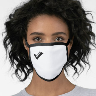 Check Mark Any Color Background Face Masks