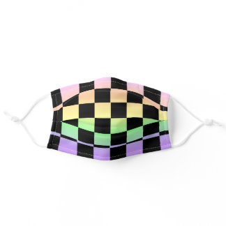 Checkered Pastel Rainbow Face Mask
