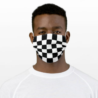 Checkers Black And White Chess Adult Cloth Face Mask