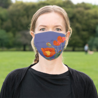 Cheerful Poppies Face Mask