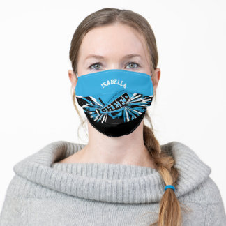 📣 Cheerleader - Baby Blue Adult Cloth Face Mask