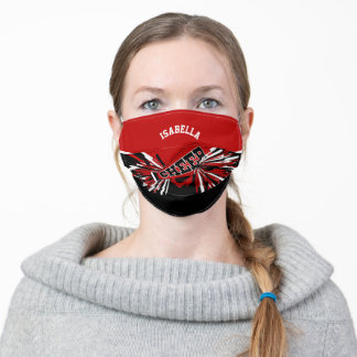 📣 Cheerleader - Dark Red Adult Cloth Face Mask