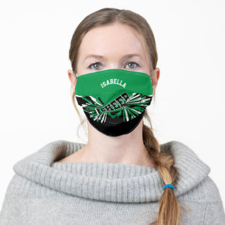 📣 Cheerleader - Green Adult Cloth Face Mask