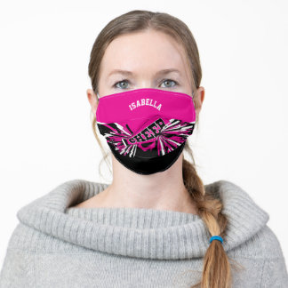 📣 Cheerleader - Pink Adult Cloth Face Mask