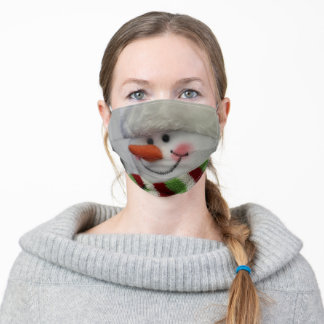 Cheery snowman adult cloth face mask