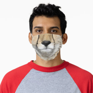 Cheetah nose & mouth face mask (0884)