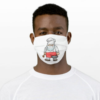 Chef with Chefs hat Adult Cloth Face Mask