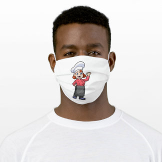 Chef with Cooking apron Adult Cloth Face Mask