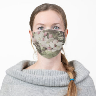 Cherry Blossoms Flowers Custom Name with Meaning Adult Cloth Face Mask