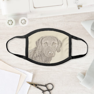 Chesapeake Bay Retriever Painting Original Dog Art Face Mask