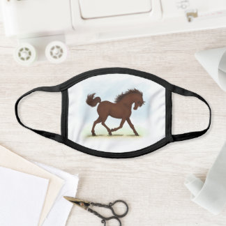 Chestnut Brown Horse Equestrian Face Mask