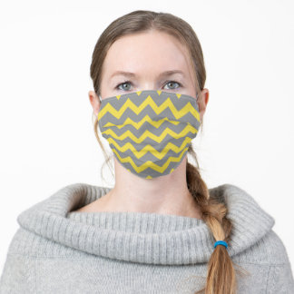 Chevron ultimate grey illuminating yellow pattern adult cloth face mask