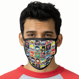 Chibi Justice League Character Pattern Face Mask