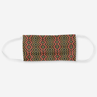 Chic Ethnic Pattern, Red, Green, Black Cloth Face Mask