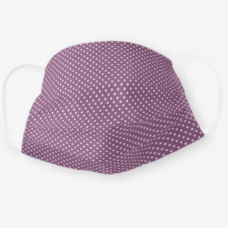 Chic Fun White Polka Dots Pattern Mauve Taupe Pink Cloth Face Mask