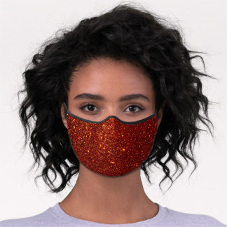 Chic Red Glitter Sparkly Stylish Premium Face Mask