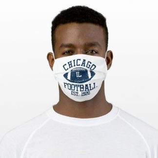 Chicago Football Fan Gift Present Idea Adult Cloth Face Mask