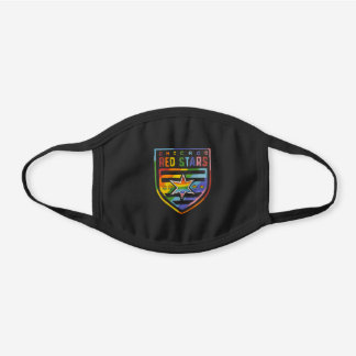 Chicago Red Stars Pride Black Cotton Face Mask