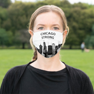 Chicago Strong White Adult Cloth Face Mask