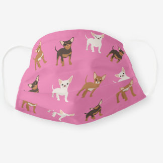 Chihuahua Dog Cute Print Pattern Cloth Face Mask
