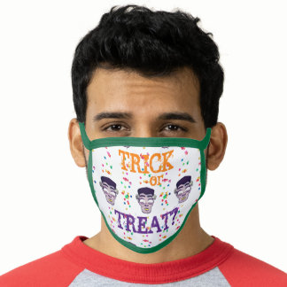 Child-friendly Halloween Frank candies pattern Face Mask