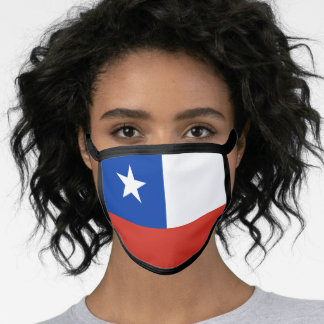 Chile & Chilean Flag Mask - fashion/sports fans