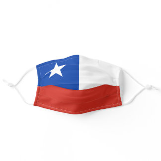 Chile flag mask, Chilean, La Estrella Solitaria Adult Cloth Face Mask