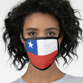 Chilean flag face mask
