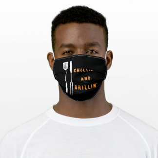 Chillin' and Grillin' Adult Cloth Face Mask