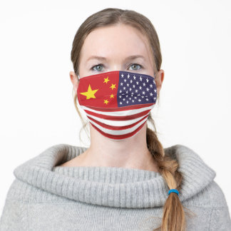 China and US Flags Face Mask