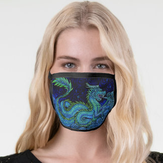 Chinese Azure Dragon Face Mask