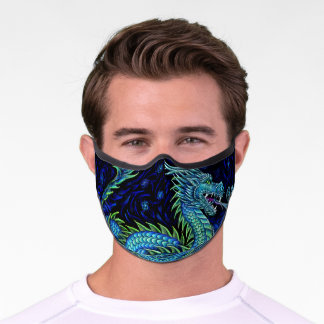 Chinese Azure Dragon Premium Face Mask