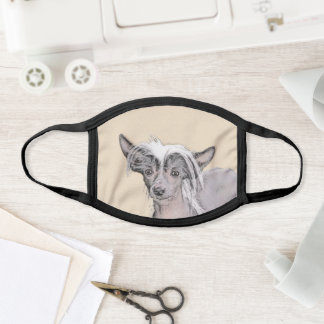 Chinese Crested Hairless Painting Original Dog Art Face Mask