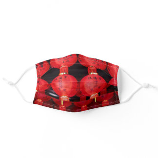Chinese New Year Lanterns Adult Cloth Face Mask