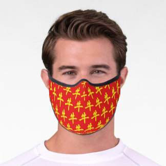 CHINESE NEW YEAR Stylish Monogram YEAR OF THE OX Premium Face Mask