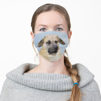 Chinook (Dropped Ears) Painting - Original Dog Art Adult Cloth Face Mask