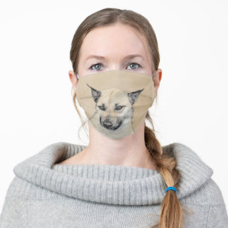 Chinook (Pointed Ears) Painting - Original Dog Art Adult Cloth Face Mask