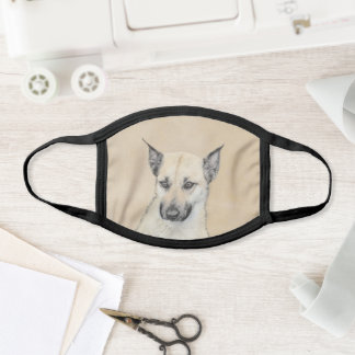 Chinook (Pointed Ears) Painting - Original Dog Art Face Mask