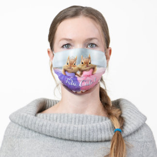 Chipmunk Ballerina Duo Adult Cloth Face Mask