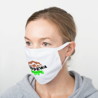 Chippewa National Forest White Cotton Face Mask