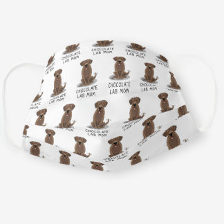 Chocolate Lab Mom (Labrador Retriever Mom) Dog Mom Adult Cloth Face Mask