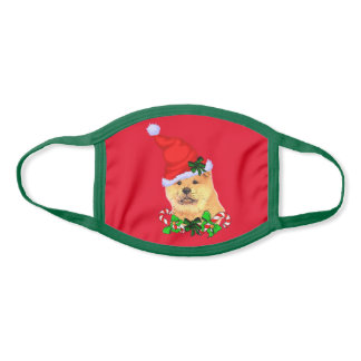 Chow Chow Christmas Face Mask