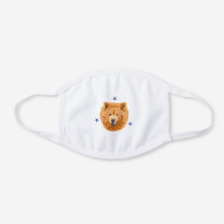 Chow Chow Dog Cute Gift White Cotton Face Mask