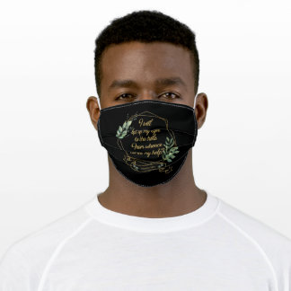 Christian Bible Verse Eucalyptus Leaves Adult Cloth Face Mask